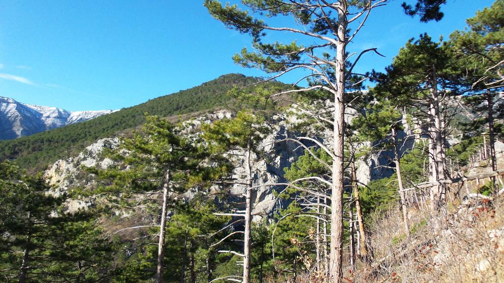 Горный пейзаж с видом на хребет Баланын-Каясы.